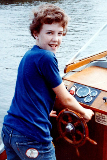 young jeremy clarkson on boat