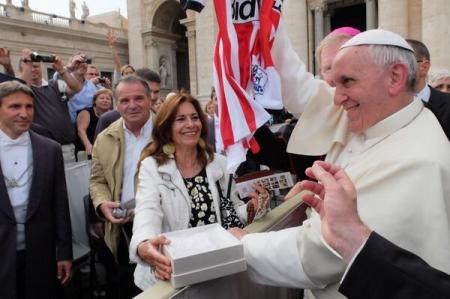Pope Francis Sunderland Shirt SAFC