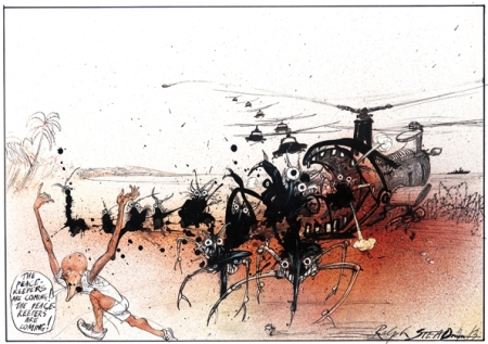 Ralph Steadman The peace keepers are coming art