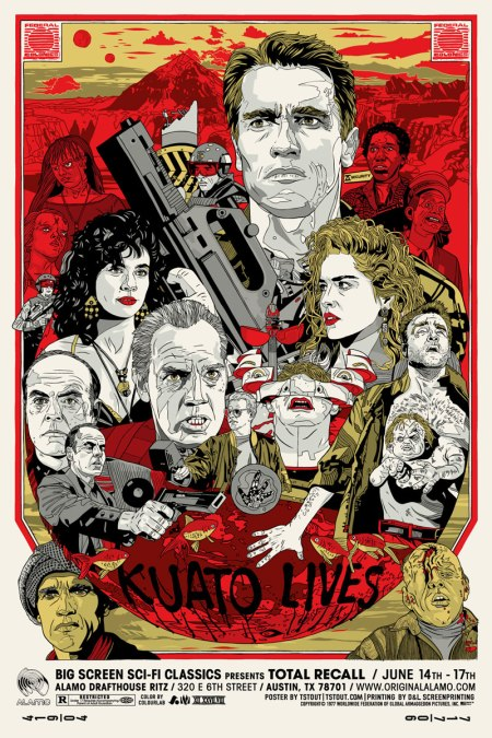 Tyler Stout Total Recall Film Poster