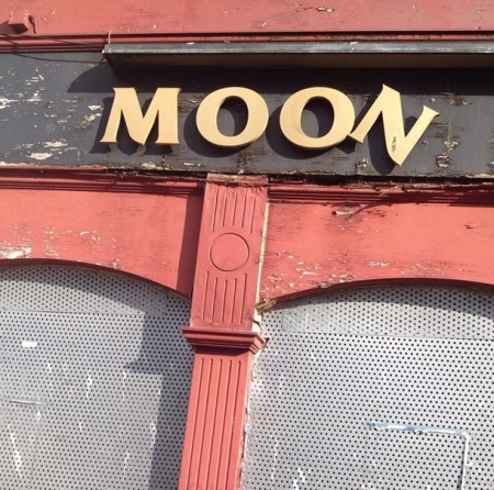 Moon Pub Sign Gateshead UK