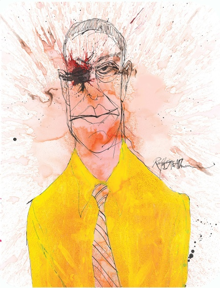 Gustavo 'Gus' Fring Breaking Bad Ralph Steadman Art Gus