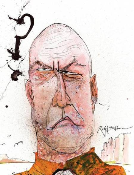 Hank Schrader Breaking Bad Ralph Steadman Art