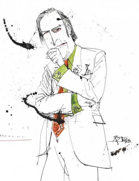 Saul Goodman Breaking Bad Ralph Steadman Art