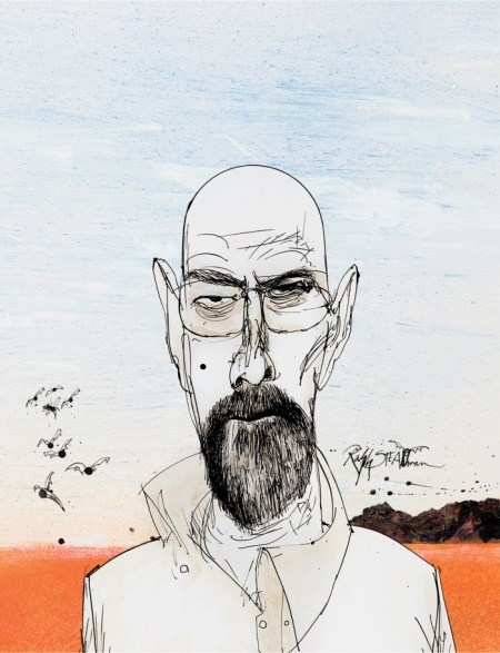 Walter White Breaking Bad Ralph Steadman Art