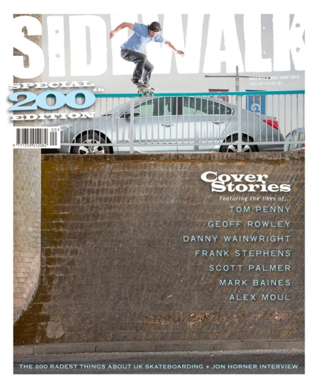 Sidewalk 200 Cover Jimmy Boyes Northeast Skateboarding